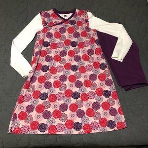 Tea collection dress and crop leggings zinnias